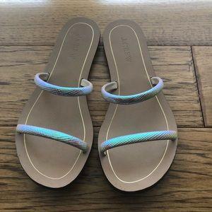Jcrew iridescent sandals